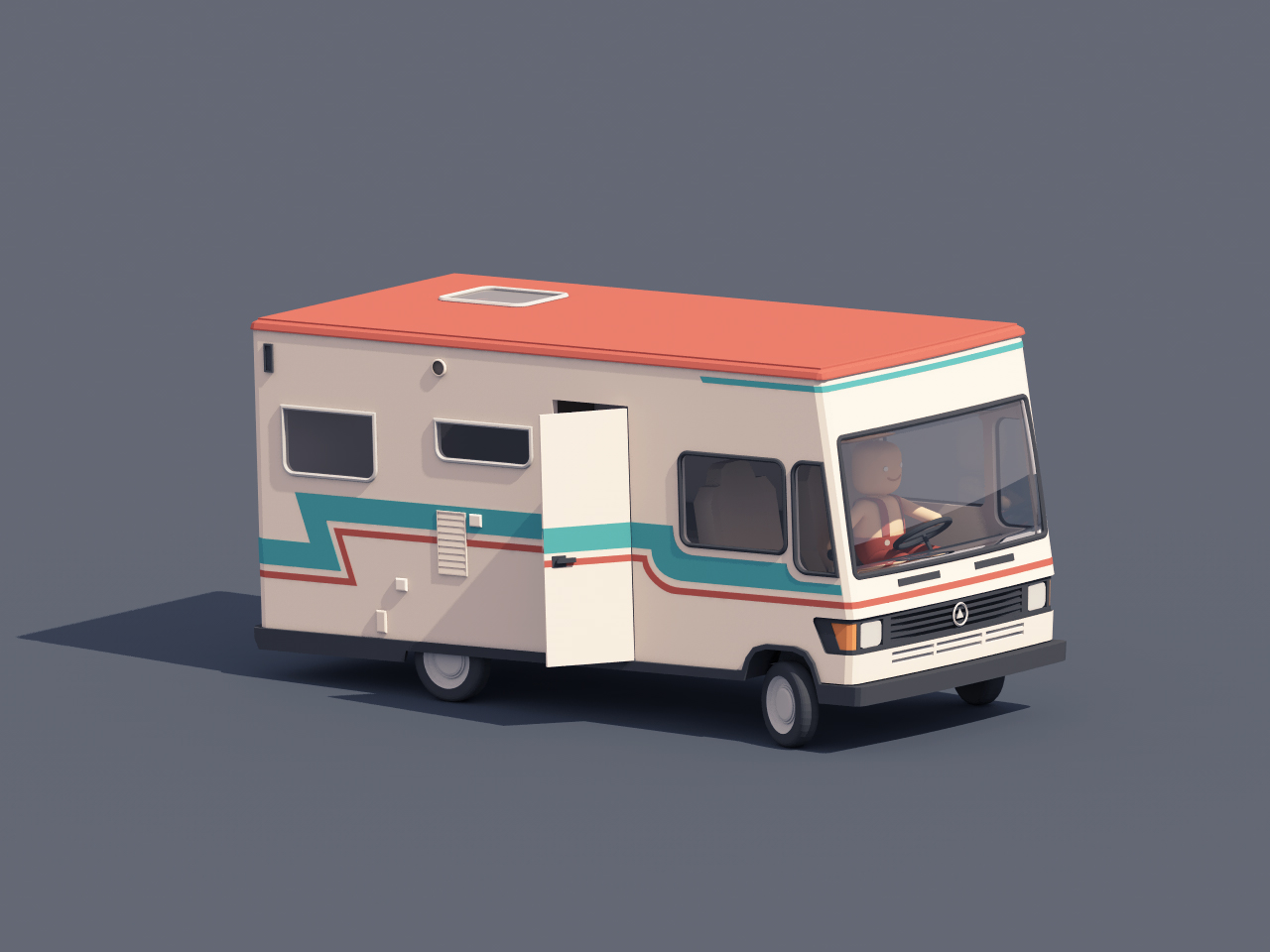 skilled camper driver by guillaume kurkdjian dribbble. Black Bedroom Furniture Sets. Home Design Ideas